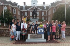 Delaware's #BYU50 winners, the Edwards family, and runners up  pictured in Dover / @BYUcougars